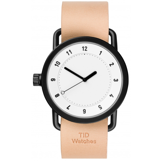 Hodinky TID Watches No.1 White/ Natural Wristband