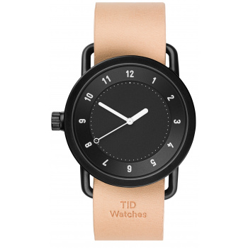 TID Watches No.1 Black/ Natural Wristband