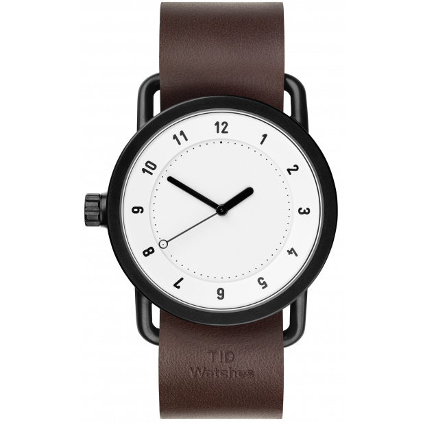 Hodinky TID Watches No.1 White/ Walnut Wristband