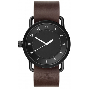 TID Watches No.1 Black/ Walnut Wristband
