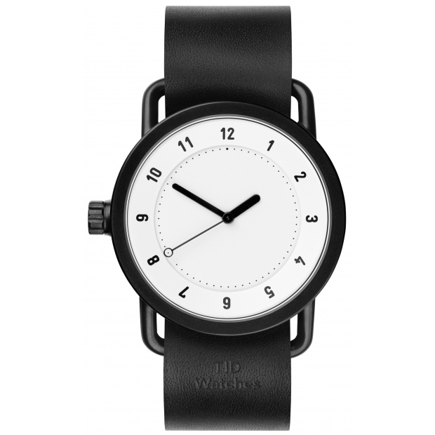 Hodinky TID Watches No.1 White/ Black Wristband