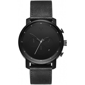 MVMT CHRONO SERIES - 45 MM BLACK LEATHER