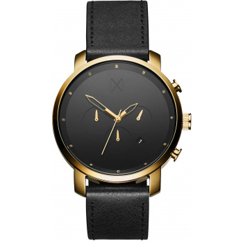 MVMT CHRONO SERIES - 45 MM GOLD BLACK LEATHER