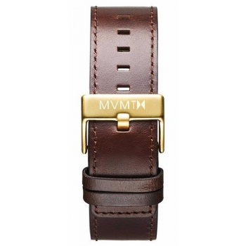 MVMT MENS CLASSIC SERIES 24MM BROWN LEATHER GOLD