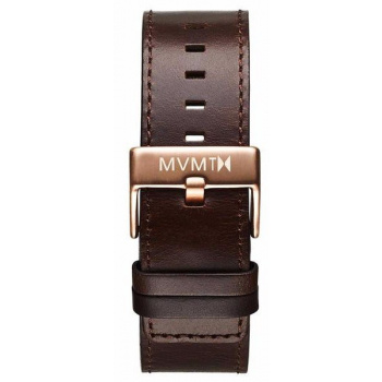 MVMT MENS CLASSIC SERIES 24MM BROWN LEATHER ROSE GOLD