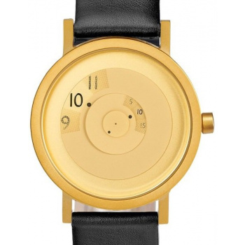 PROJECT WATCHES Reveal BRASS / Black / Leather
