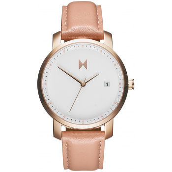 MVMT SIGNATURE SERIES - 38 MM ROSE GOLD/PEACH LEATHER