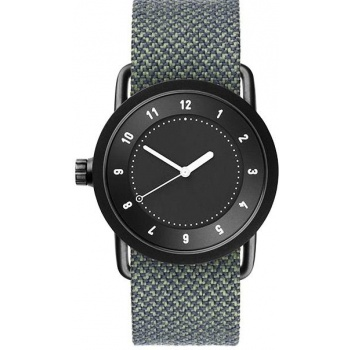 TID Watches No.1 36 Black / Pine Twain Wristband