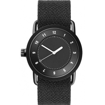 TID Watches No.1 36 Black / Coal Twain Wristband