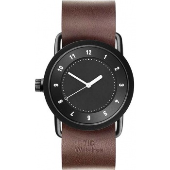 TID Watches No.1 36 Black / Walnut Leather Wristband