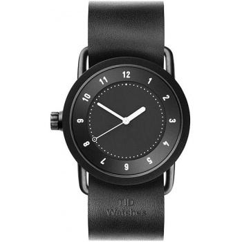 TID Watches No.1 36 Black / Black Leather Wristband