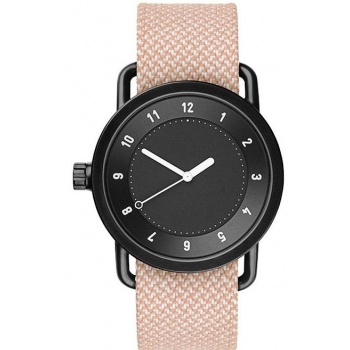 TID Watches No.1 Black / Salmon Twain Wristband