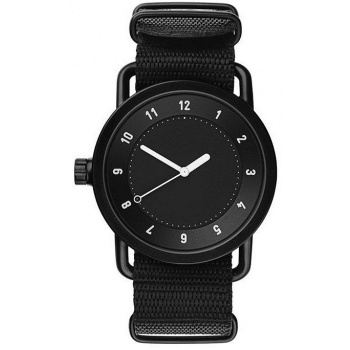 TID Watches No.1 Black / Black Nylon Wristband