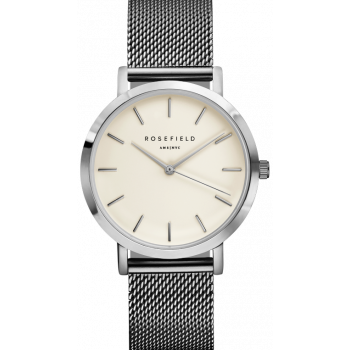 ROSEFIELD THE MERCER WHITE / SILVER 38 MM