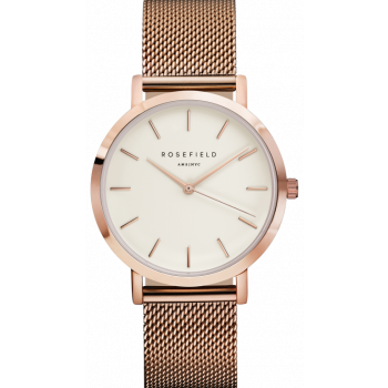 ROSEFIELD THE MERCER WHITE / ROSE GOLD 38 MM