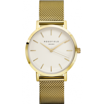 ROSEFIELD THE MERCER WHITE / GOLD 38 MM