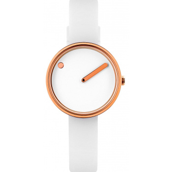 PICTO WHITE/POLISHED ROSE GOLD 43381-0212R