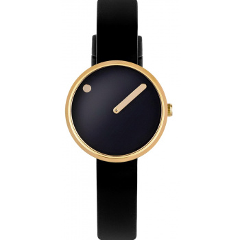 PICTO BLACK/POLISHED GOLD 43385-0112G