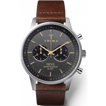 TRIWA SMOKY NEVIL DARK BROWN CHRONOGRAPH