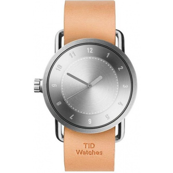 TID Watches No.1 Steel / Natural Leather Wristband