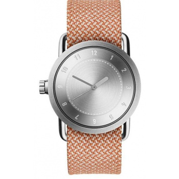 TID Watches No.1 36 Steel / Salmon Twain Wristband