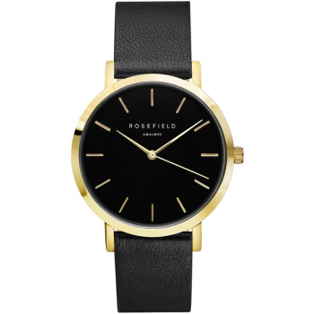ROSEFIELD THE GRAMERCY GOLD BLACK / BLACK 38 MM