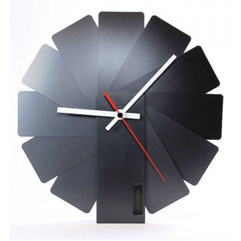 KIBARDINDESIGN TRANSFORMER ANALOG CLOCK / BLACK & BLACK