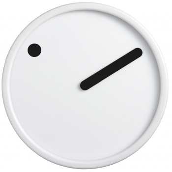 PICTO Picto Clock - Black on White