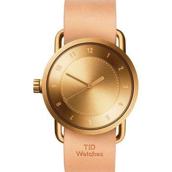 TID Watches No.1 Gold / Natural Leather Wristband