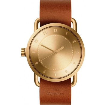 TID Watches No.1 Gold / Tan Leather Wristband