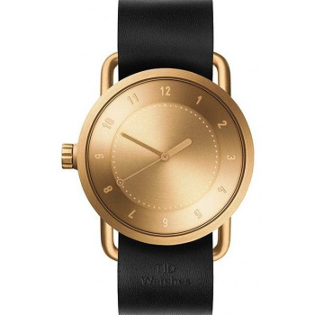 TID Watches No.1 Gold / Black Leather Wristband