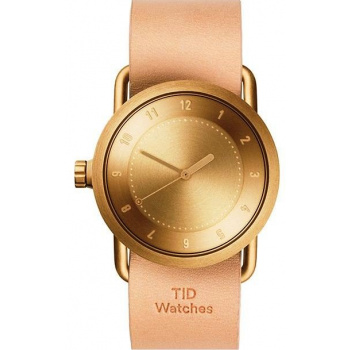 TID Watches No.1 36 Gold / Natural Leather Wristband