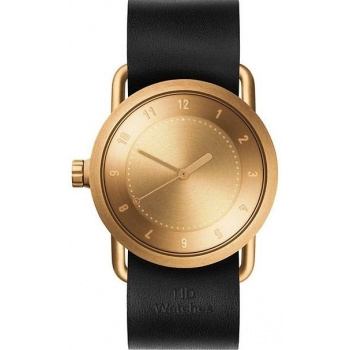 TID Watches No.1 36 Gold / Black Leather Wristband