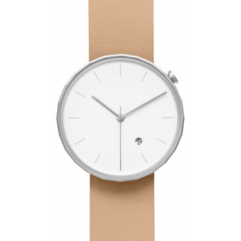 CHI & CHI POLYGON WATCH PG02 Silver / Beige
