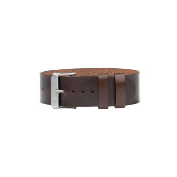 TID Watches Walnut/Silver Leather Wristband