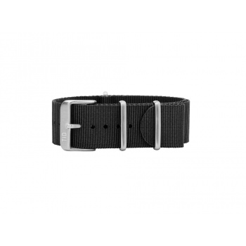 TID Watches Black/Silver Nylon Wristband