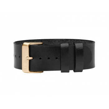 TID Watches Black/Gold Leather Wristband