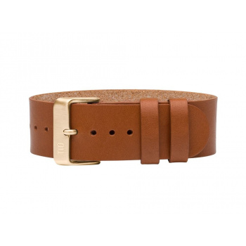 TID Watches Tan/Gold Leather Wristband