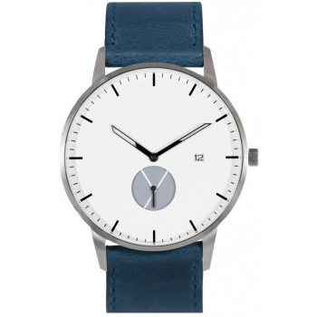 WHY WATCHES Signature Model 1 - Silver/Navy Blue