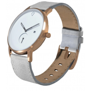Hodinky WHY WATCHES Modernist Model 1 - Rose Gold / Grey