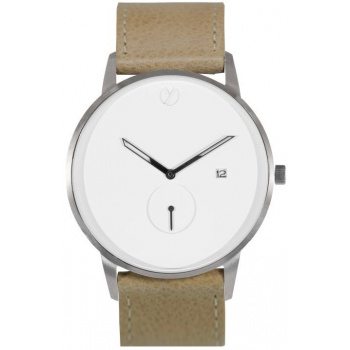 WHY WATCHES Modernist Model 3 - Silver / Tan