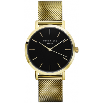 ROSEFIELD THE MERCER BLACK / GOLD 38 MM