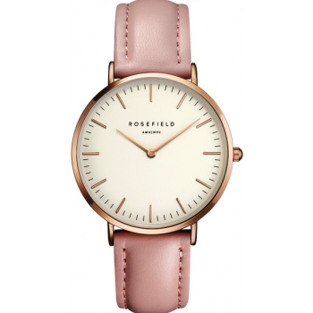 ROSEFIELD THE BOWERY ROSE GOLD WHITE / PINK 38 MM