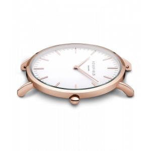 Hodinky ROSEFIELD THE BOWERY ROSE GOLD WHITE / PINK 38 MM