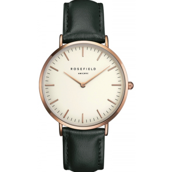ROSEFIELD THE BOWERY ROSE GOLD WHITE / GREEN 38 MM