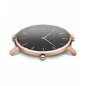 Hodinky ROSEFIELD THE BOWERY ROSE GOLD BLACK / BLACK 38 MM