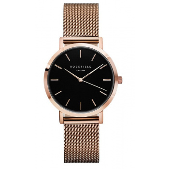 ROSEFIELD THE TRIBECA BLACK - ROSE GOLD / 33MM