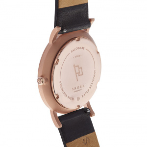 Hodinky SHORE PROJECTS SALCOMBE - Black / Rose Gold