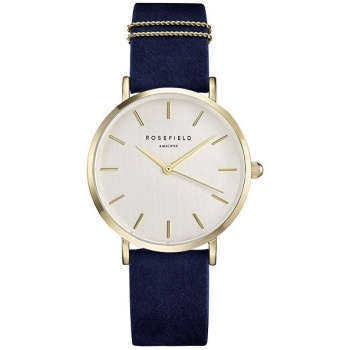ROSEFIELD THE WEST VILLAGE VELVET BLUE - GOLD / 33MM