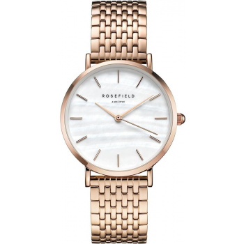 ROSEFIELD THE UPPER EAST SIDE ROSE GOLD / WHITE PEARL 33 MM